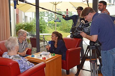 Filmdreh in der Gettorfer Seniorenwohnanlage Am Park