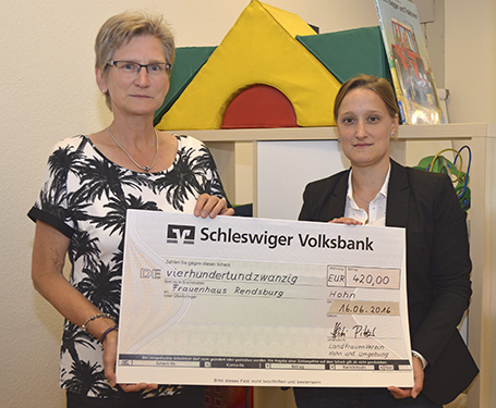 Spende Frauenhaus Rendsburg
