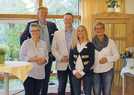 v.l.: Christine Petersen, Andreas Straub, Markus Preuß, Anika Scheel, Yvonne Ostermann