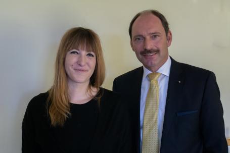 Gianna Rath und Bürgermeister P. Gilgenast
