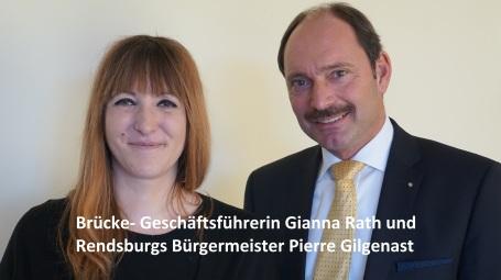 Gianna Rath und Bürgermeister Pierre Gilgenast