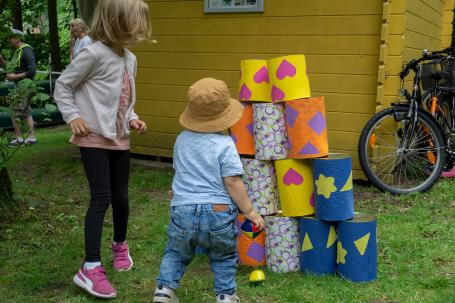 Ein buntes Programm beim Brücke-Sommerfest für Große + Kleine