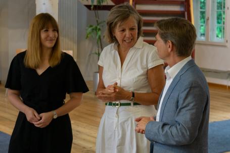 Gianna Rath, Heike Rullmann, Dr. Heiner Garg
