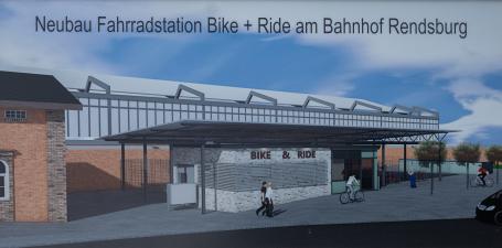 Neue Fahrradstation Bike + Ride am Rendsburger Bahnhof