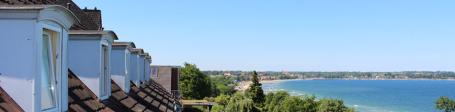 Panoramablick vom Hotel auf die Ostsee