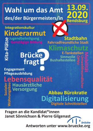Fragen der Brücke zur Wahl in Rendsburg