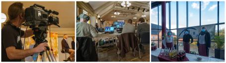 Das Technik-Team besorgte den Live-Stream