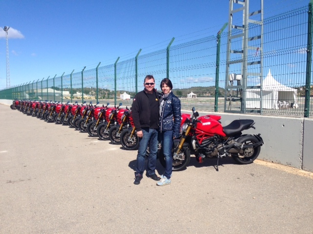 Claus Carstens mit Conny in Valencia