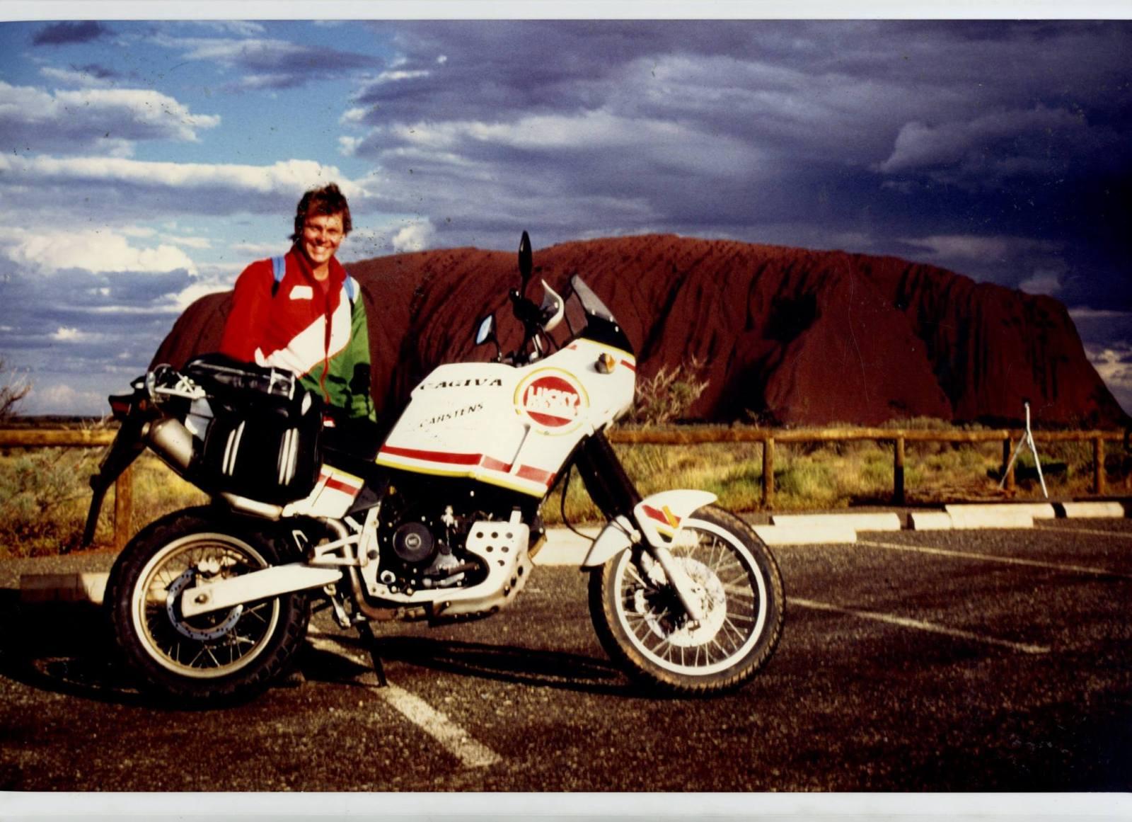 Claus Carstens 1993 auf Testfahrt