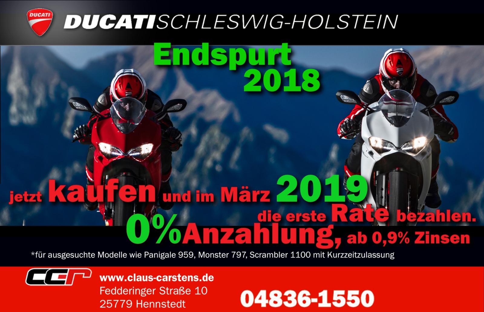 Ducati Schleswig Holstein Claus Carstens GmbH feierte 25 Jahre in Hennstedt