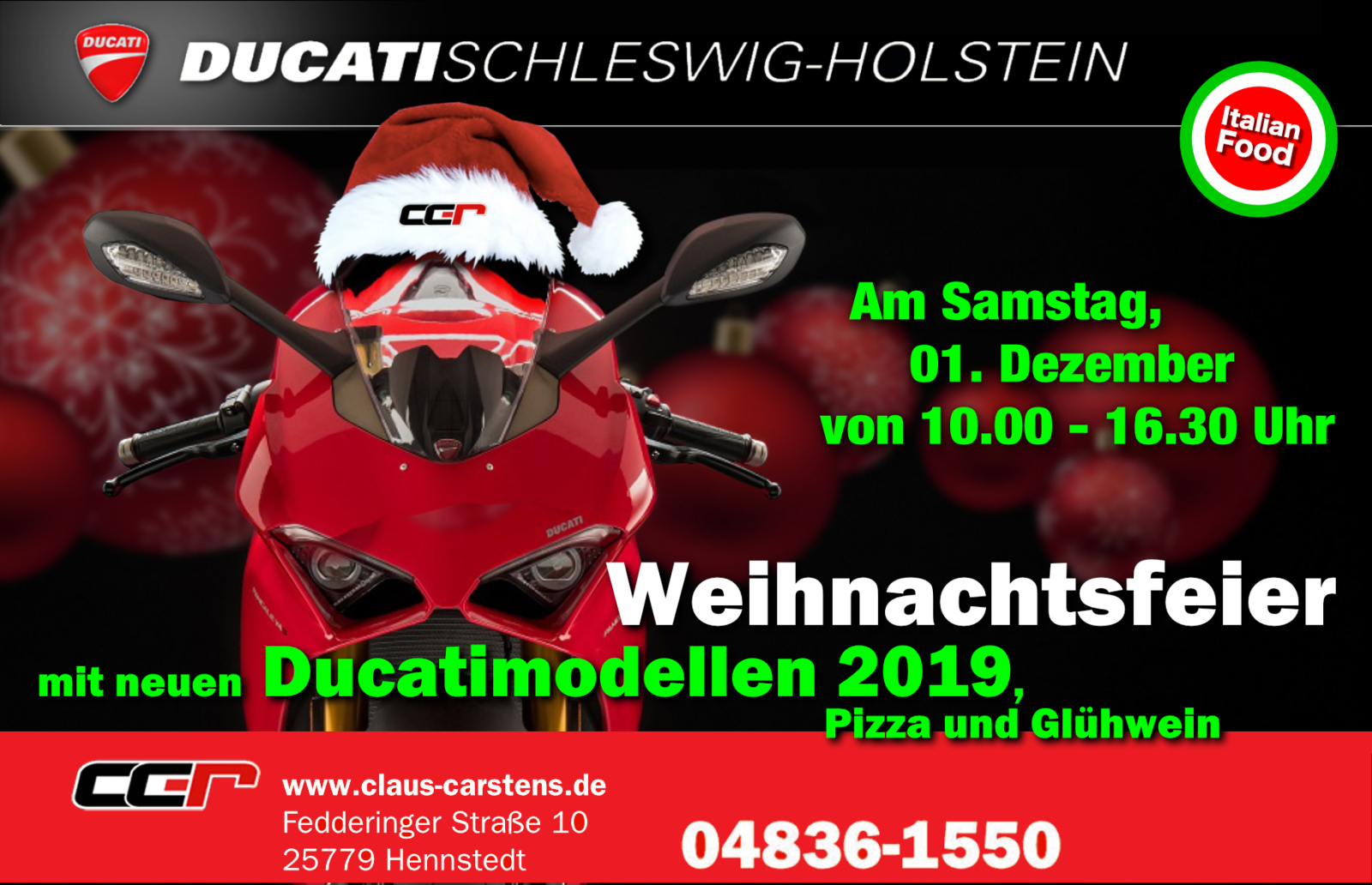 Desmo Xmas bei Ducati SH cc-r