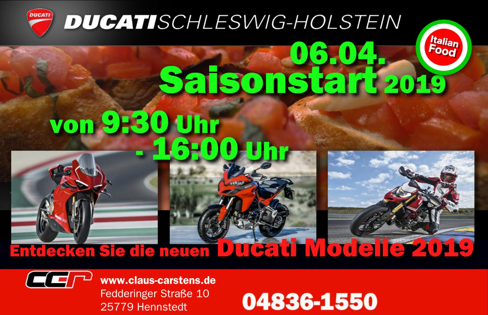 Saisonstart bei Ducati SH