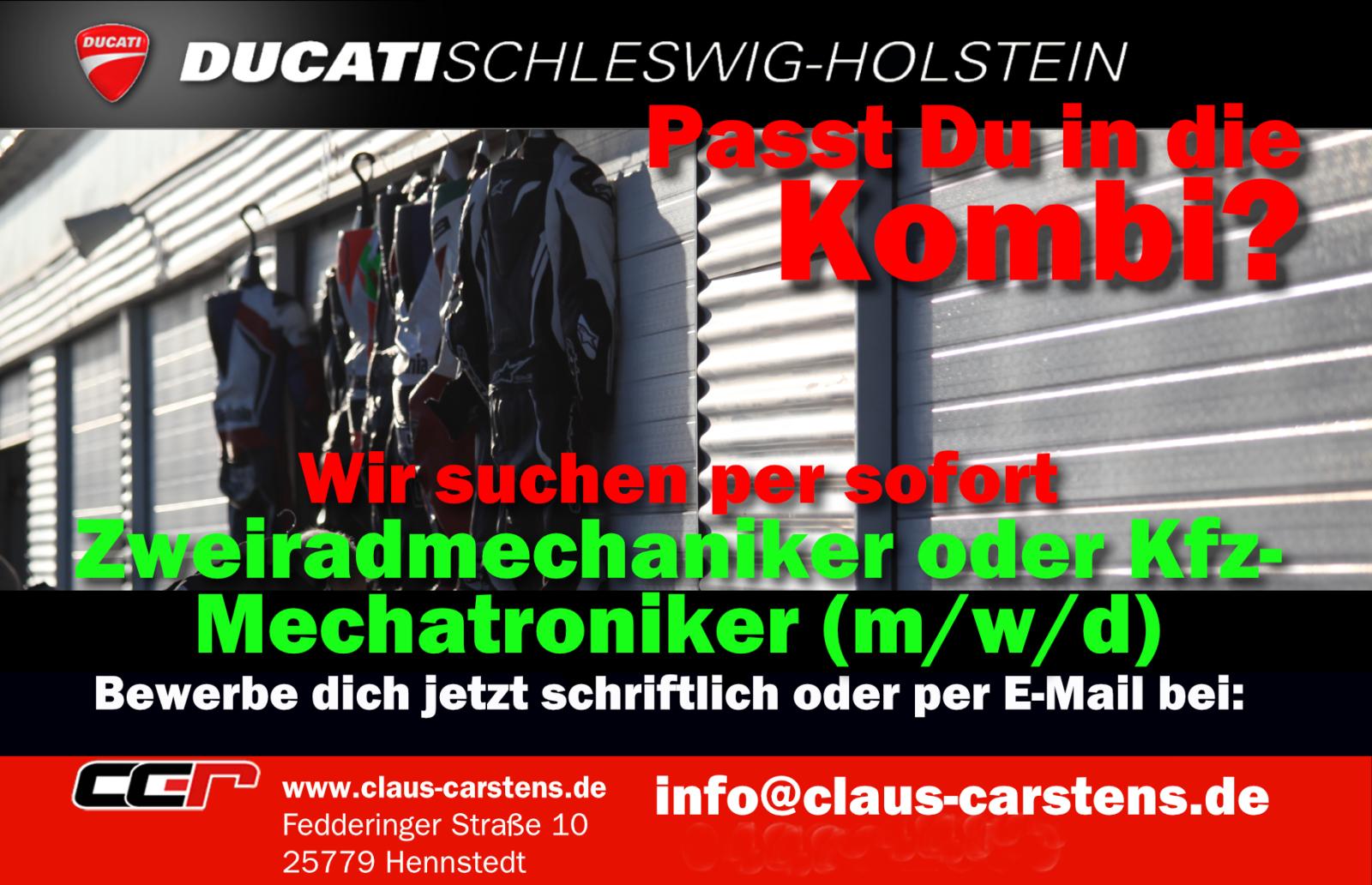 Stellenanzeige Ducati Schleswig-Holstein