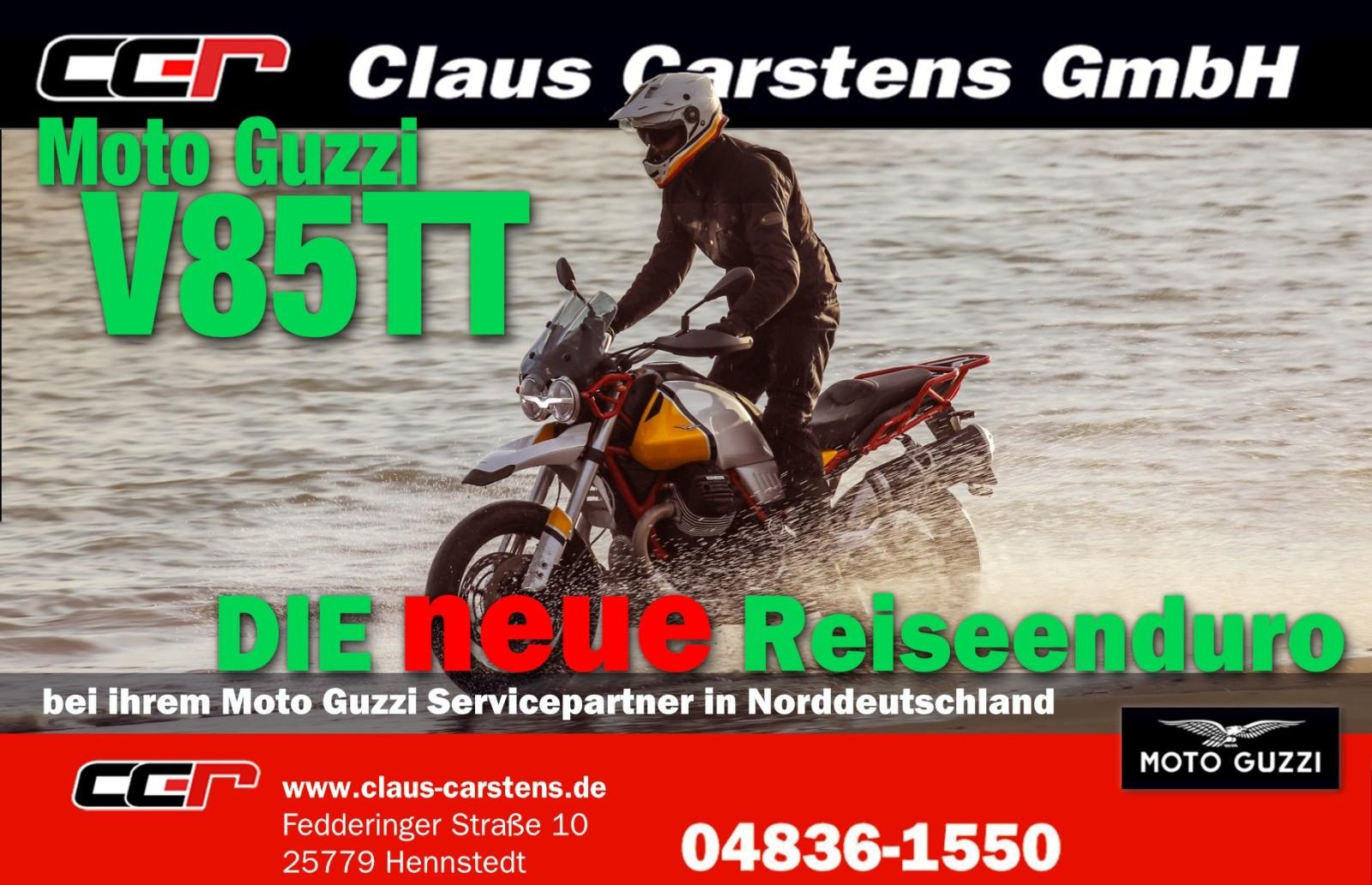 Moto Guzzi V85 TT live in Hennstedt