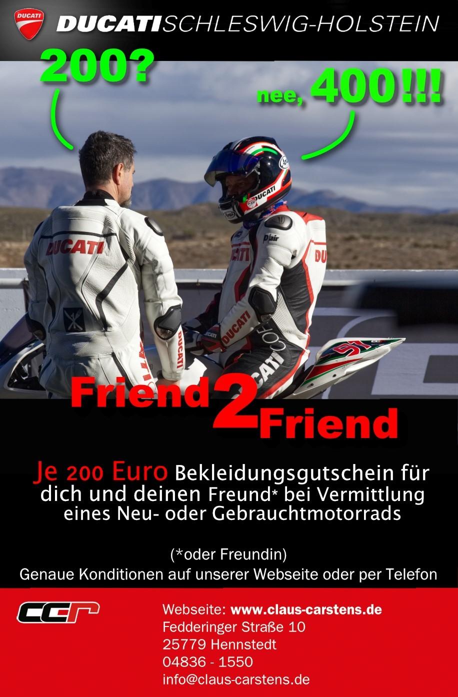 Friend2Friend mit Ducati Schleswig Holstein